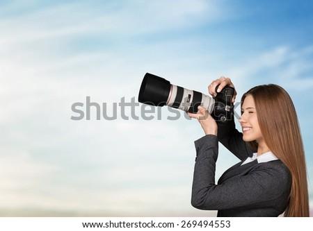 Photographer, video, studio. - stock photo