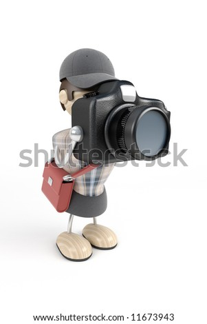 Photographer with a camera, the press - stock photo