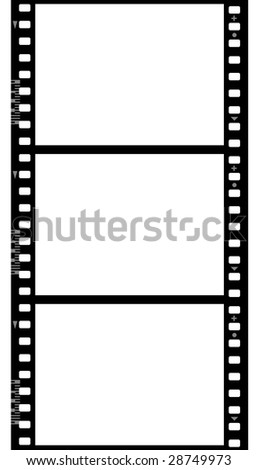 Photographic film ( seamless ) isolated on white background - stock photo