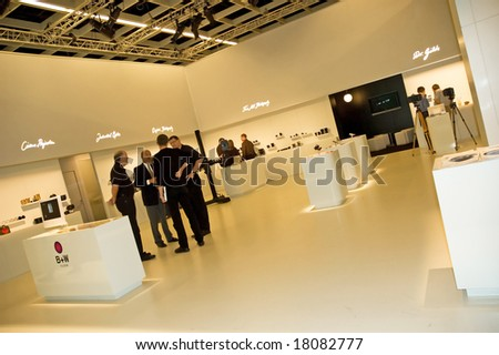 PHOTOKINA, COLOGNE - SEPTEMBER 28: B+W at Photokina - World of Imaging, Top Event for the Trade and User, September 28, 2008 in Cologne, Germany. - stock photo