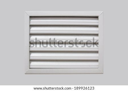 Photorealistic bathroom ventilation window - stock photo