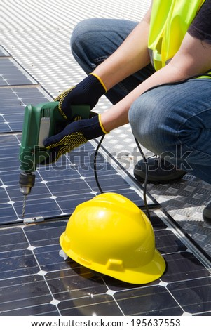 photovoltaic - stock photo