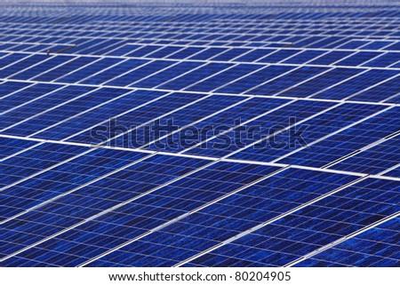 Photovoltaic array - stock photo