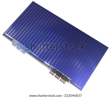 Photovoltaic cells (space grade) isolated on white - stock photo