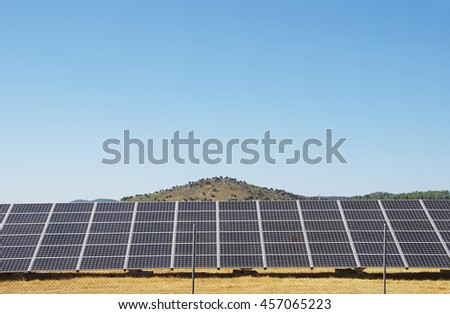 Photovoltaic panels,  alternative electricity source  - stock photo