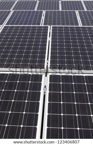 Photovoltaic solar panels - stock photo