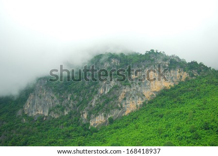 Phu Pha Man national park, Khonkaen,Thailand - stock photo
