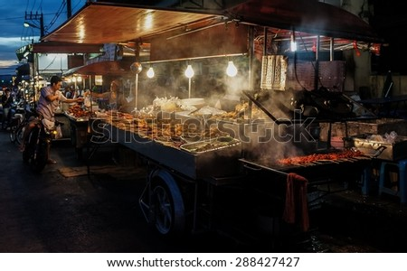 PHUKET, THAILAND December 23, 2012: Impressions of an asian market - stock photo