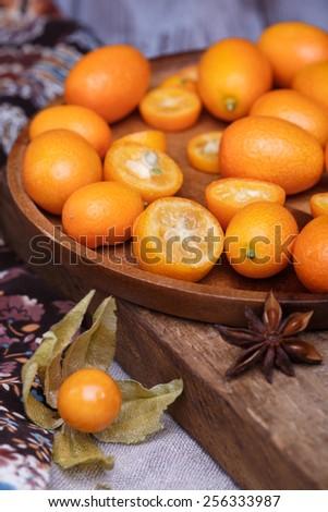 physalis and kumquat - stock photo