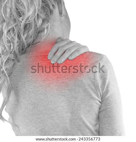 Physical Therapy for Shoulder Pain. Medical concept photo. - stock photo