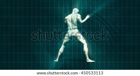 Physical Training for Motivation and Inspiration Art 3d Illustration Render - stock photo