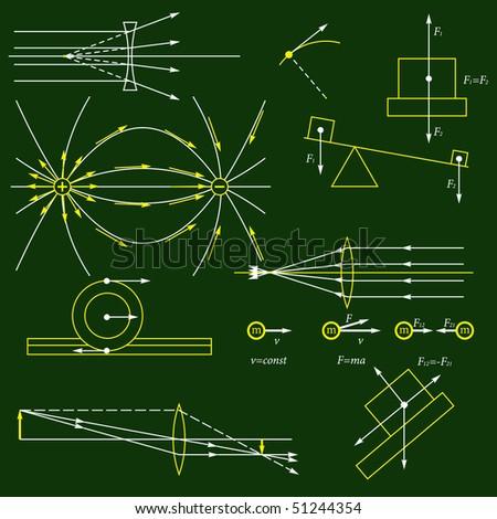 Physics background - stock photo