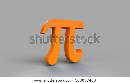 pi number symbol gray background - stock photo