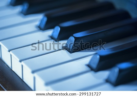 Piano blues jazz music - stock photo