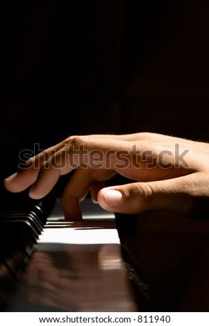 Piano Hand - stock photo