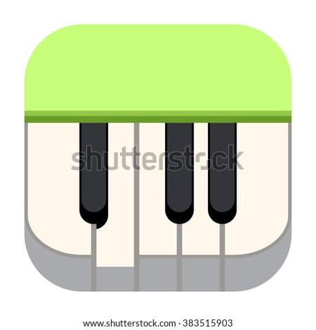 Piano icon - stock photo