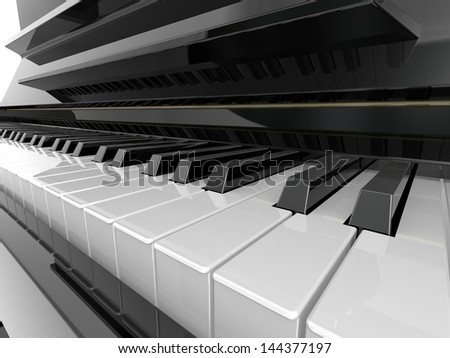 Piano key - stock photo