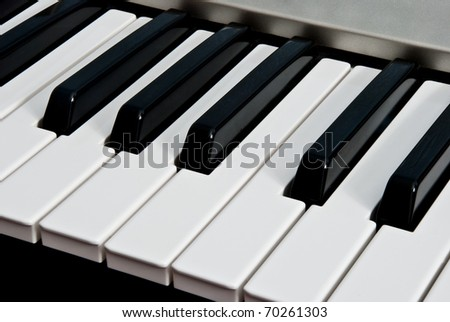 piano keyboard as a background - stock photo