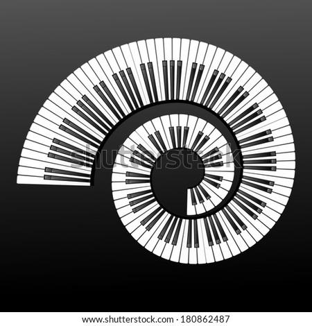 Piano keyboard design element - stock photo