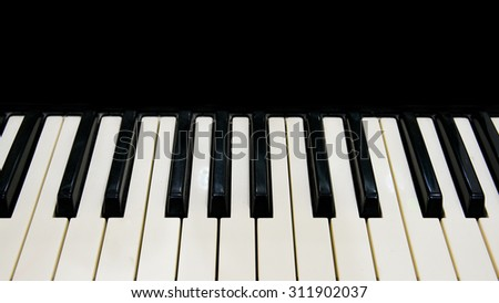 Piano keyboard with black space for your idea - stock photo