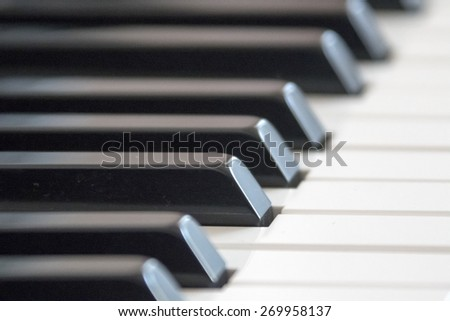 Piano keys - stock photo