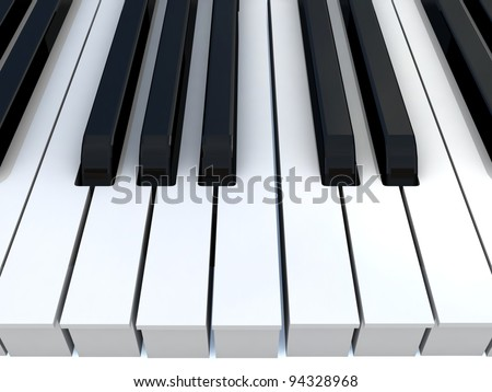 Piano keys. - stock photo