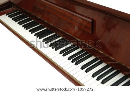Piano keys isolated on white - stock photo