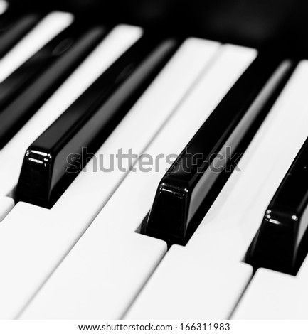 Piano keys (Select somepoint focus) - stock photo