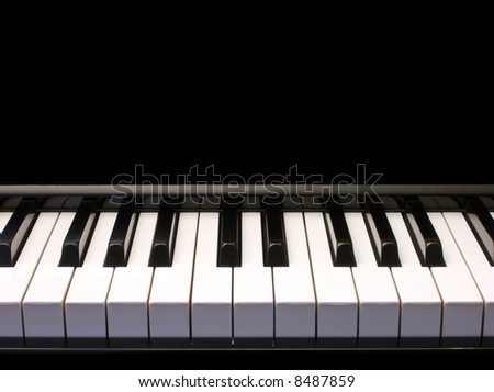 piano - low perspective - one octave ornament - stock photo