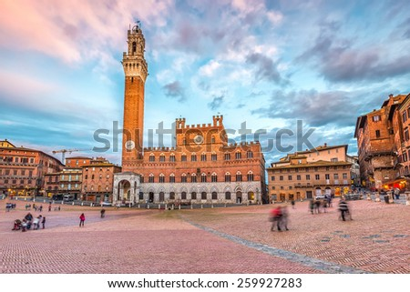 Piazza del Campo in Siena, Italy - stock photo