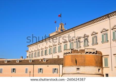 Piazza del Quirinale, Rome Italy - stock photo