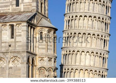 Piazza Miracoli Pisa, Italy - stock photo