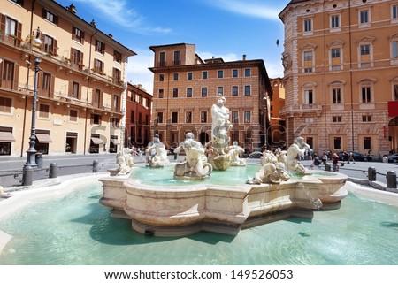 Piazza Navona, Rome. Italy  - stock photo