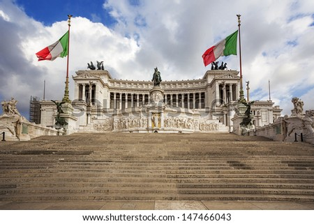 piazza Venezia, National Monument of Victor Emmanuel II. Rome, Italy.  - stock photo