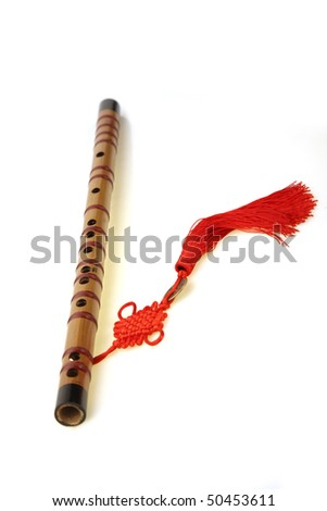 Piccolo with Chinese knot,China - stock photo