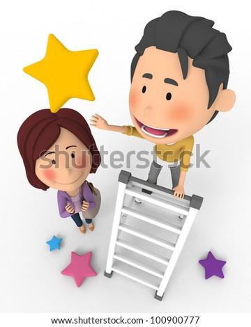 Pick a star - stock photo