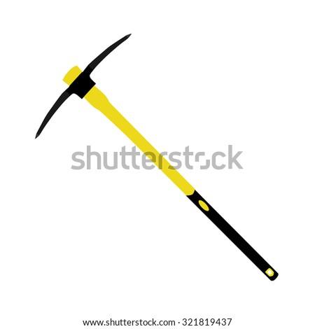 Pick axe, pick axe icon, pick axe raster, old pick axe - stock photo