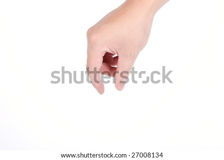 Pick something up - stock photo