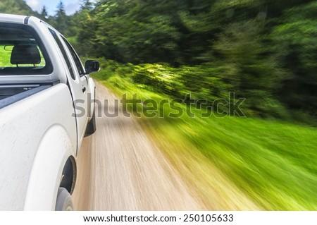 Pick-up drive - stock photo