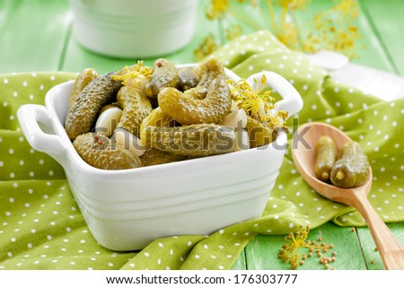 Pickled cucumbers - stock photo