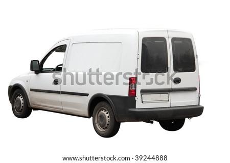 pickup under the white background - stock photo