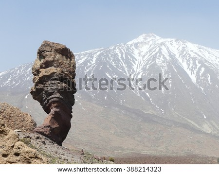 Pico del Teide, island Tenerife - stock photo