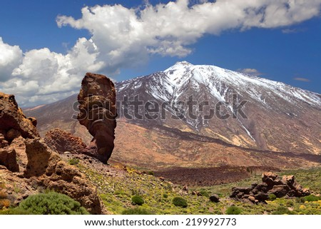 Pico del Teide, Tenerife, Spain's highest mountain - stock photo