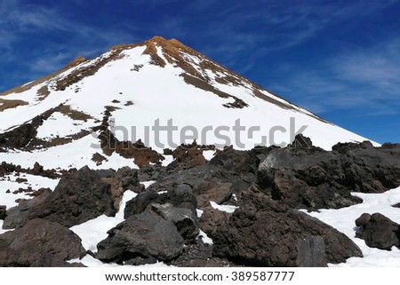 Pico del Teide,volcano on Tnerife island - stock photo