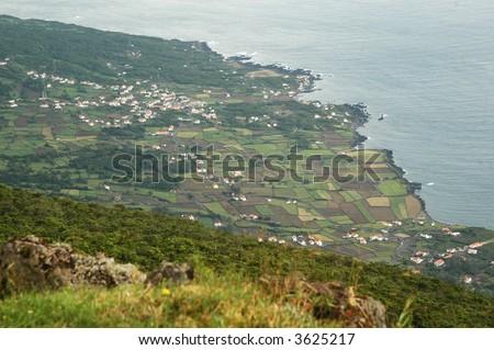 Pico island in Azores - stock photo