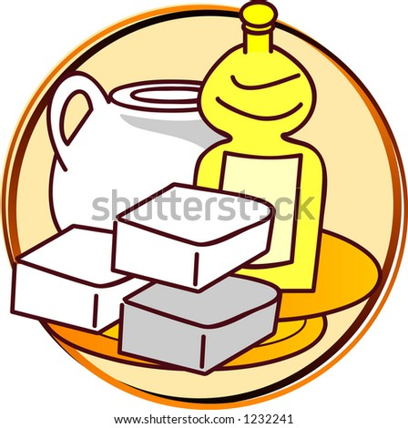 pictogram - fat - butter, oil - stock photo