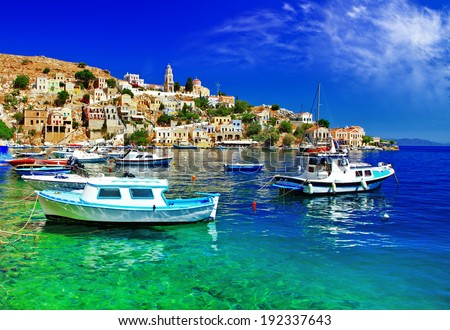 pictorial Greece series- Symi island, Dodecanes - stock photo