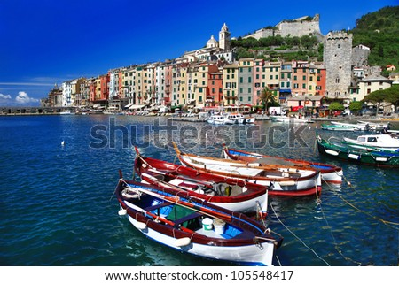pictorial Italy series - Portovenere. - stock photo