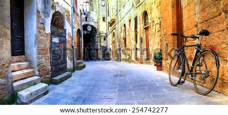 pictorial streets of old Italy series - Pitigliano - stock photo