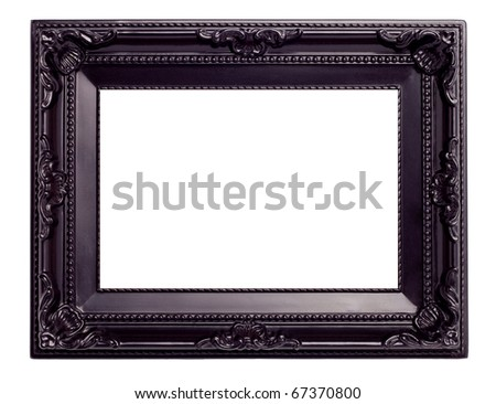 Picture black frame with a decorative pattern - stock photo
